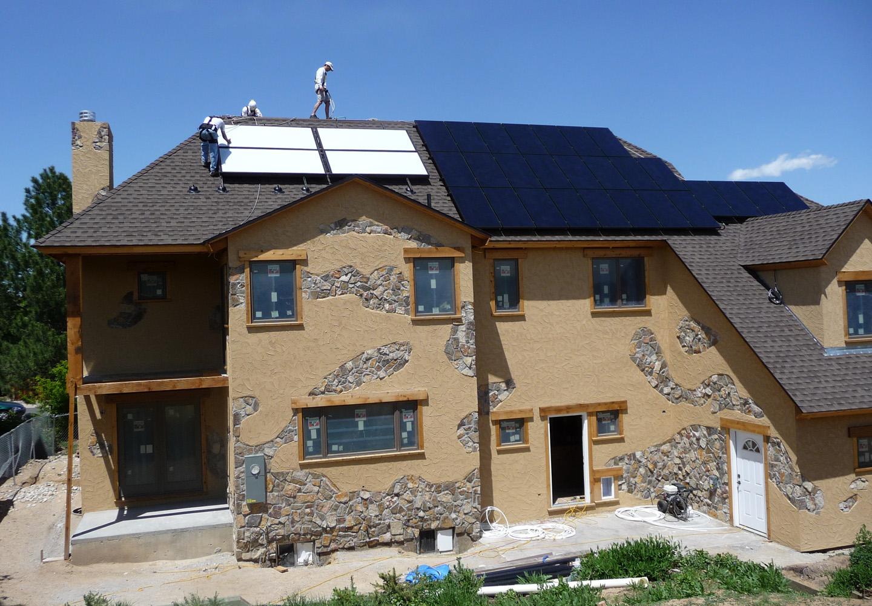 Leed Home platinum leed home colorado: construction progress